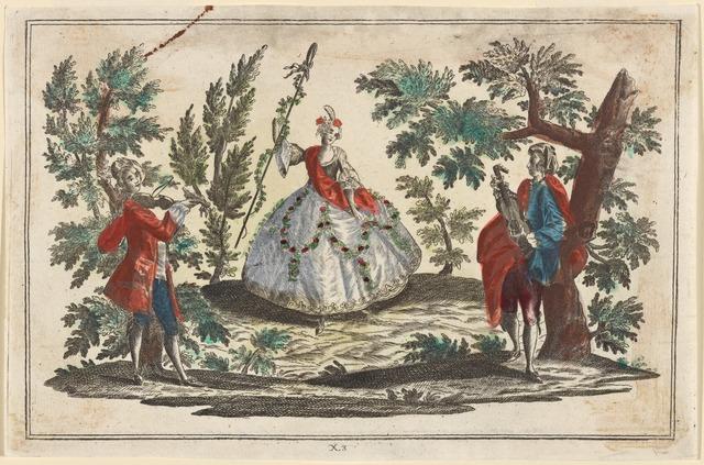 Pastoral dance scenes of the eighteenth century