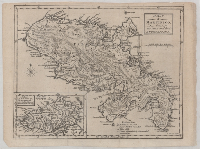 A map of Martinico from the latest and best authorities