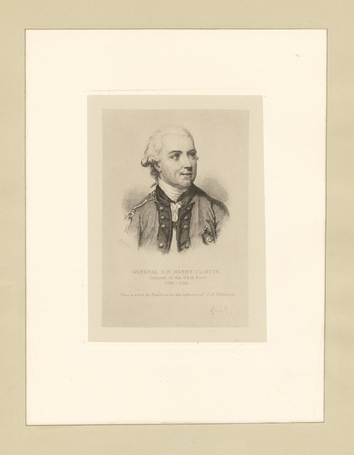 General Sir Henry Clinton Colonel of the 84th Foot