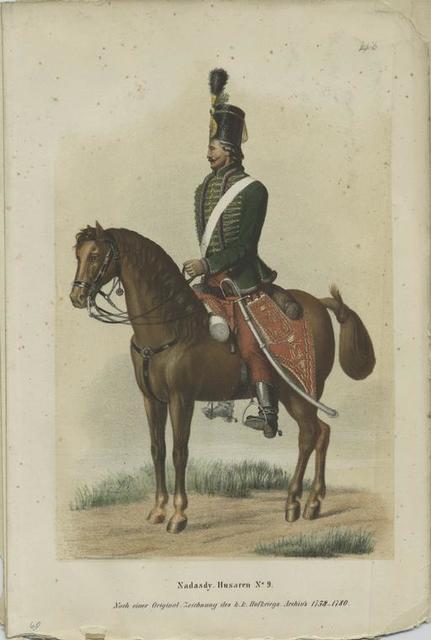Nadasdy-Husaren No. 9., Nach einer Original Zeichnung des K.K. Hofkriegs-Archiv's 1758-1780