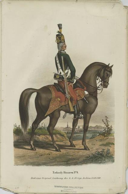 Nadasdy-Husaren No. 9, Nach einer Original Zeichnung des K.K. Kriegs-Archivs 1758-1780
