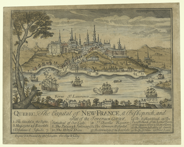 Quebec, the capital of New-France, a Bishoprick, and a seat on the Soverain Court.
