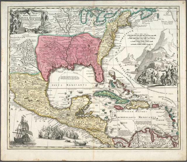 Regni Mexicani seu Novae Hispaniae, Floridae, Novae Angliae, Carolinae, Virginiae et Pensylvaniae necnon insularum archipelagi Mexicani in America Septentrionali
