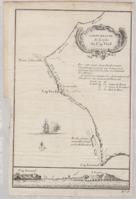 Carte exacte de la côte du Cap Verd