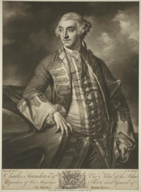 Charles Saunders Esq., Adm. of the Blue Squadron of his Majesty's Fleet...