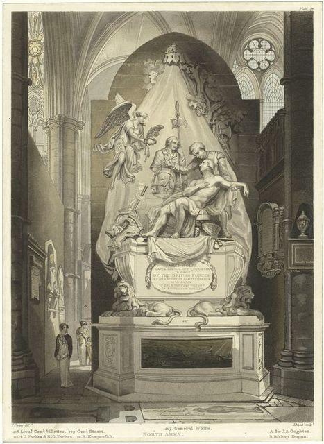[Memorial statue of General Wolfe]