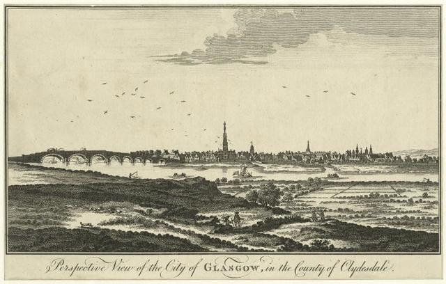 Perspective view of the City of Glasgow, in the  county of Clydesdale.