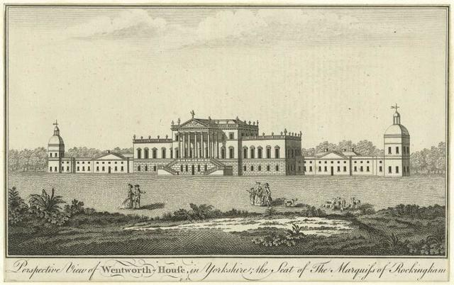 Perspective view of Wentworth-House, in Yorkshire, the seat of the marquiss of Rockingham.