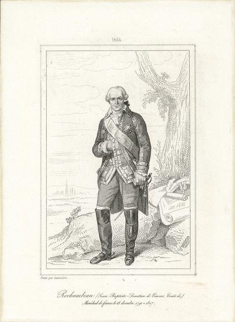Rochambeau (Jean-Baptiste-Donation de Vimeur, Comte de) Mar'echal de france 28 decembre 1791 - 1807