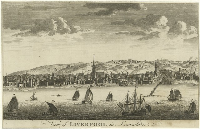 View of Liverpool in Lancashire.