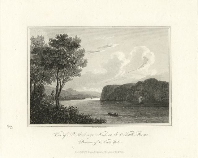 View of St. Anthony's Nose, on the North River. Province of New York