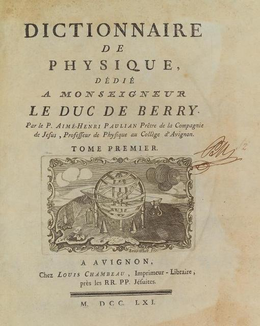 Dictionnaire de physique vol. 1, [Title page]