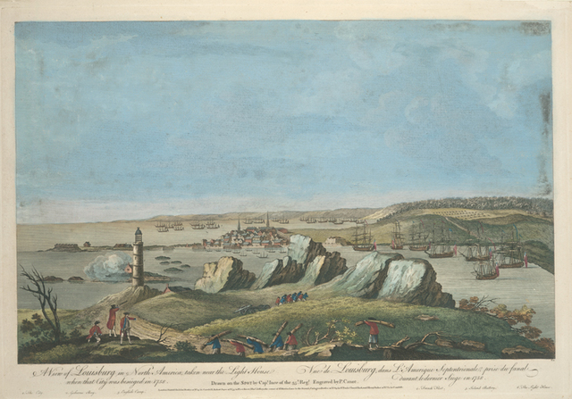 A view of Louisbourg in North America... = Vue de Louisbourg, dans l'Amérique septentrionale...