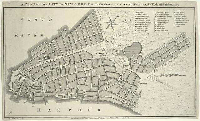 A plan of the city of New-York, reduced from actual survey