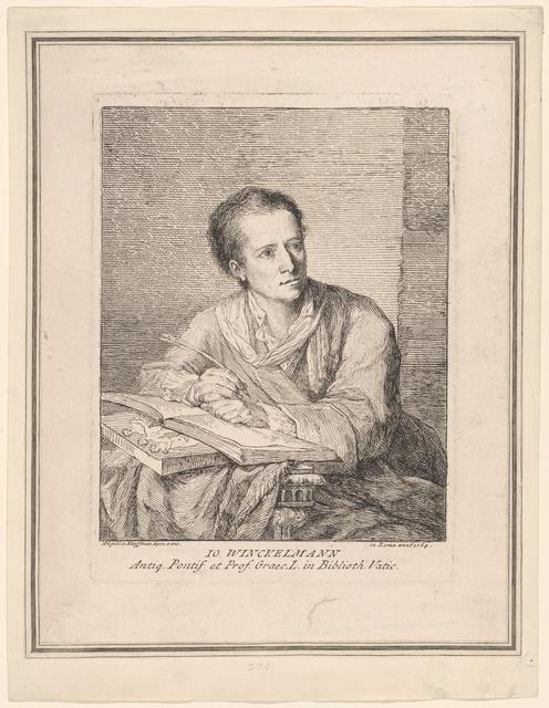IO. WINCKELMANN [Portrait of Johann J. Winckelmann]