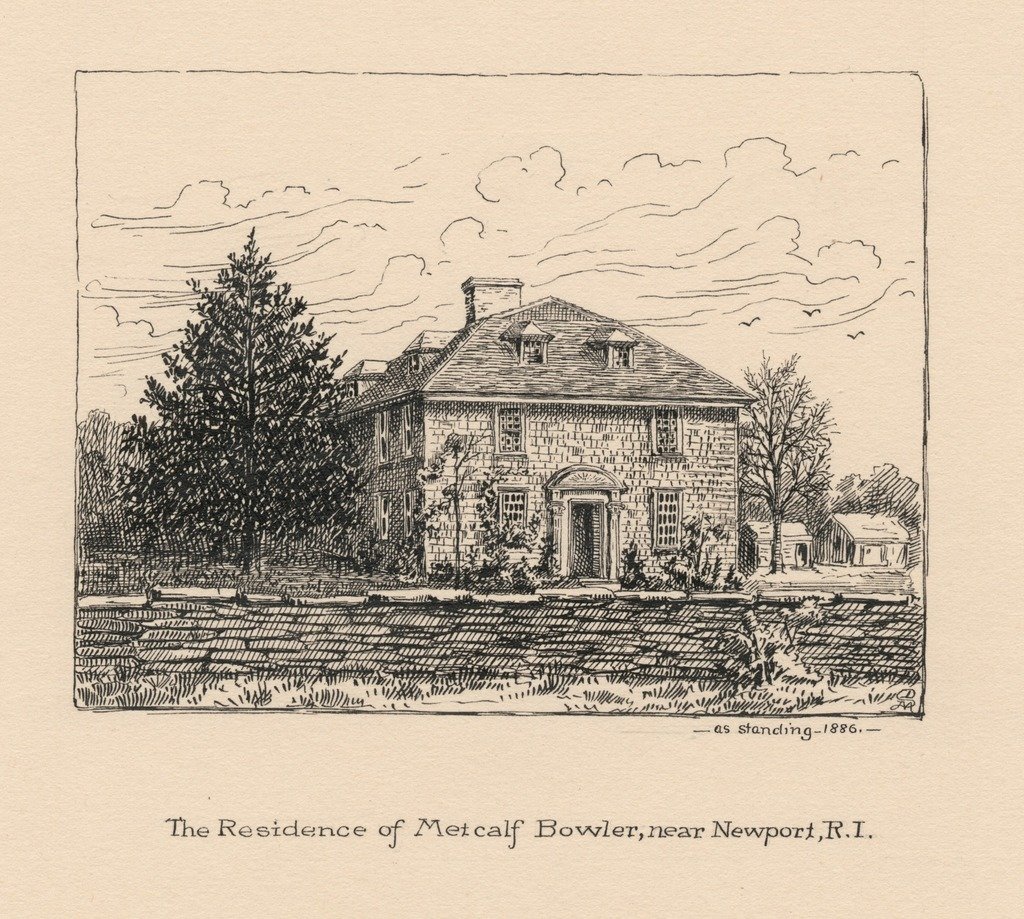 The residence of Metcalf Bowler, near Newport, R.I., as standing, 1886.