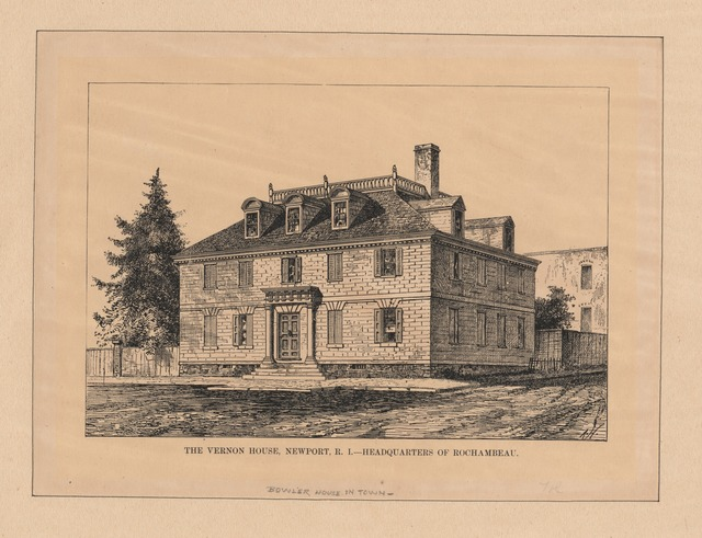 The Vernon house, Newport, R.I., headquarters of Rochambeau.