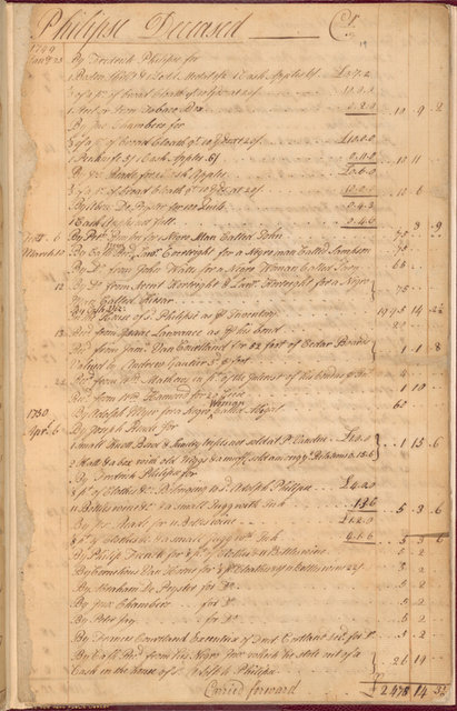 Adolph Philipse estate records