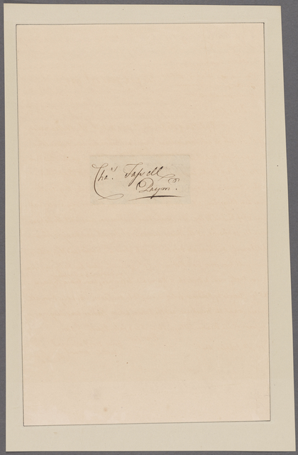 Gage, Thomas. To Abraham Mortier