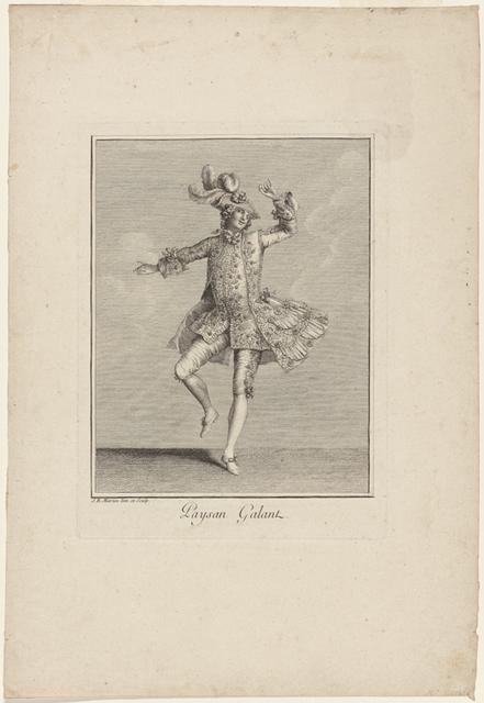 Paysan galant: J. B. Martin inv. et sculp