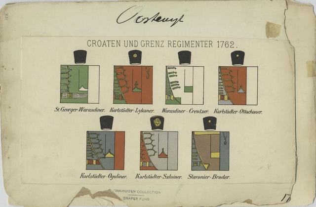Croaten und Grenz Regimenter, 1762