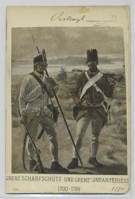 Grenz Scharfschütz und Grenz Infanteriest. 1770