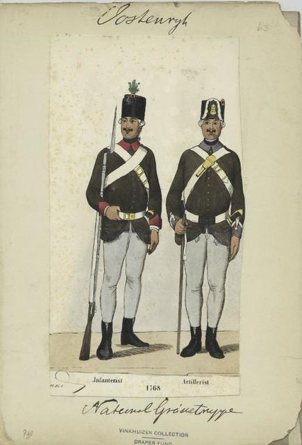 National-Grenzentruppen : Infanterist, Artillerist. 1768