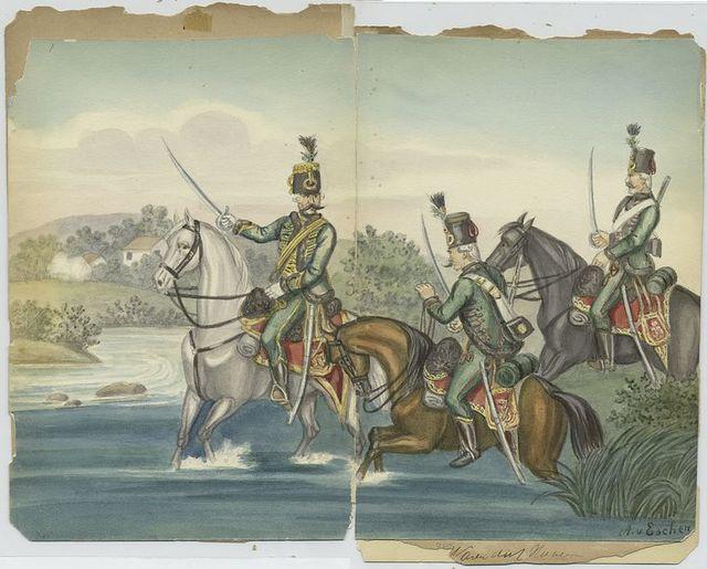 Stream crossing Cavalry