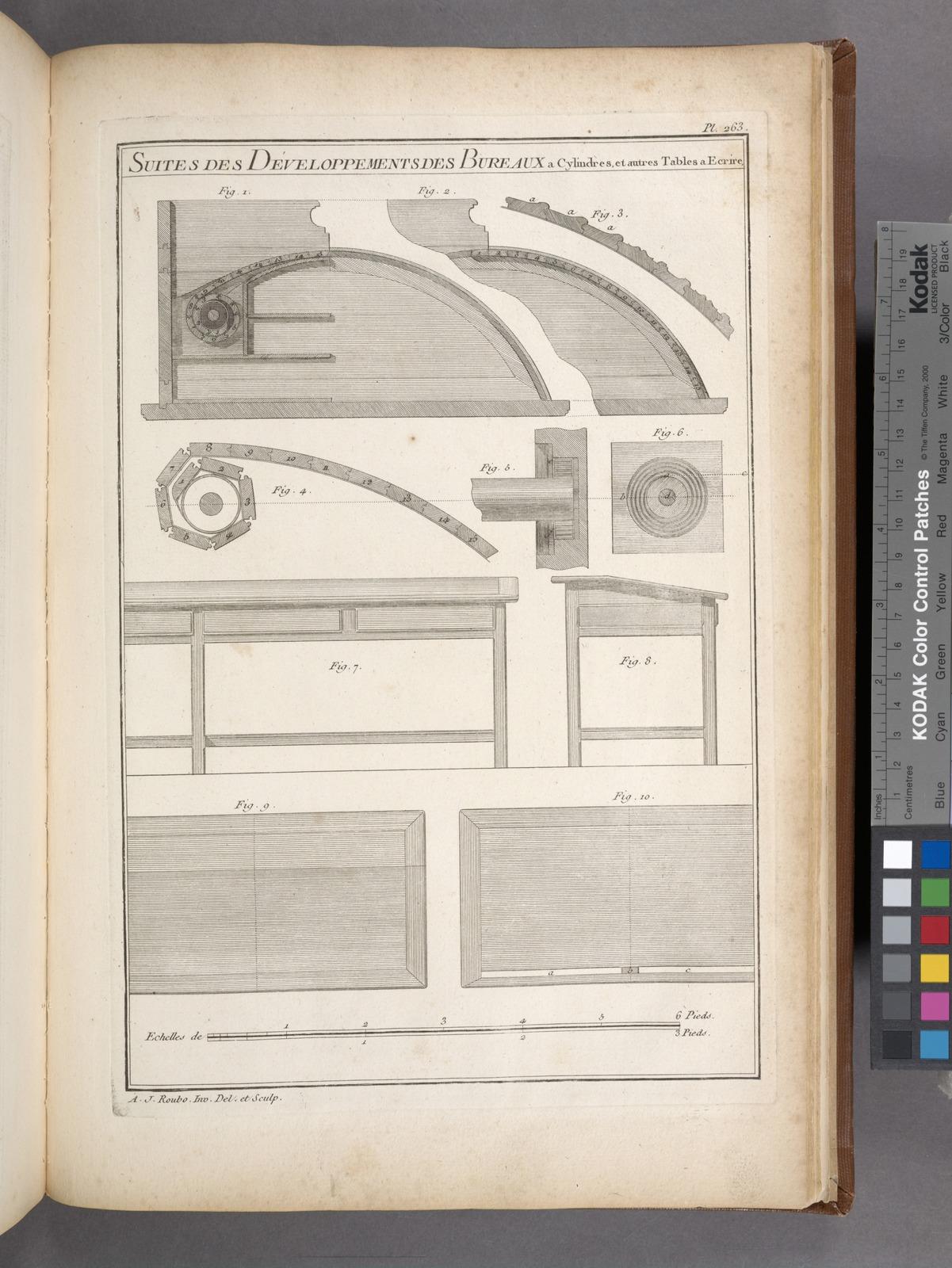 Suites des développements des bureaux a cylindres et autres tables a ecrire.