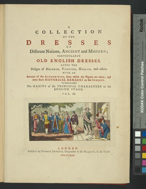 A collection of the dresses of different nations, ancient and modern. [Title page]