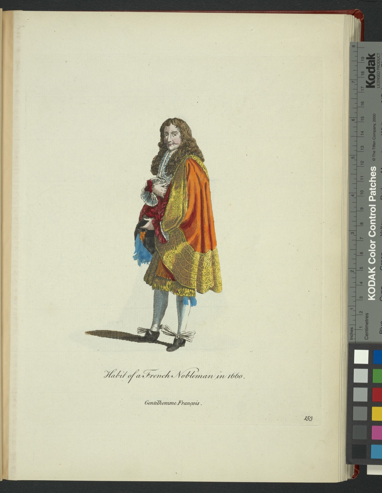 Habit of a French nobleman in 1660. Gentilhomme François.