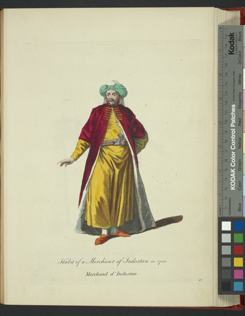 Habit of a merchant of Indostan in 1700. Marchand d'Indostan.