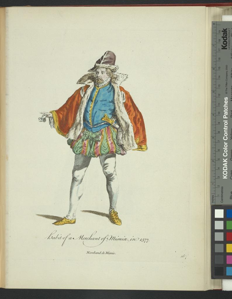 Habit of a merchant of Misnia in 1577. Marchand de Misnie.