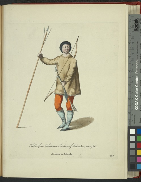 Habit of an Eskimaux[sic] Indian of Labrador in 1766. Eskimau du Labrador.