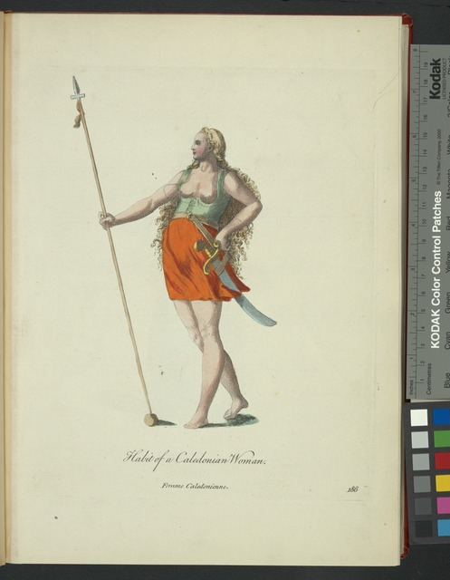 Habit of Caledonian woman. Femme Caledonienne.