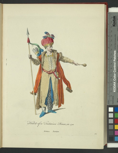 Habit of the Tartarian prince, in 1700. Prince Tartare.