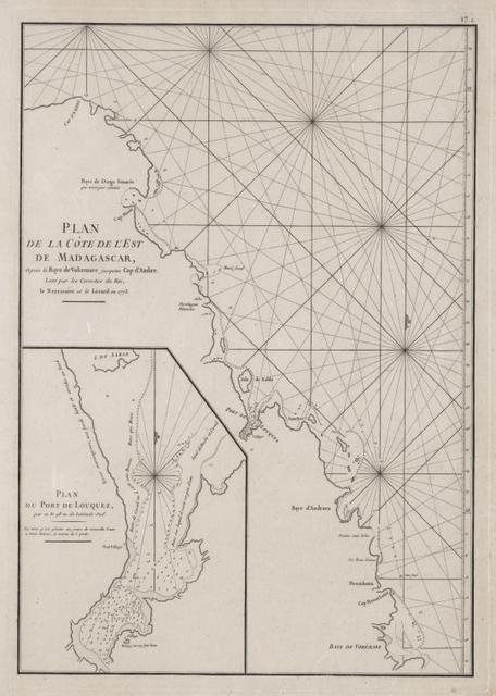 Plan de la côte de l'est de Madagascar: depuis la Baye de Vohemare jusqu'au Cap d'Ambre