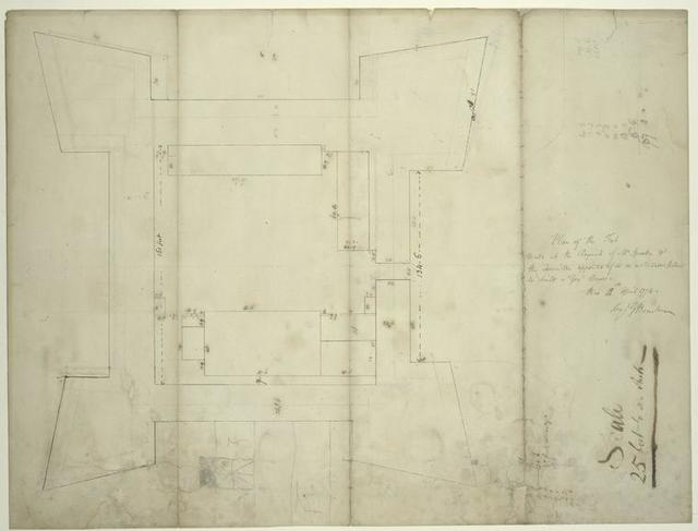 Plan of the fort made at the request of Mr Speaker [John Cruger] and the committee appointed to fix on a suitable plan to build a govt house