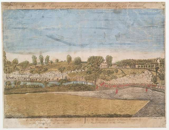 Plate III. The engagement at the North Bridge in Concord