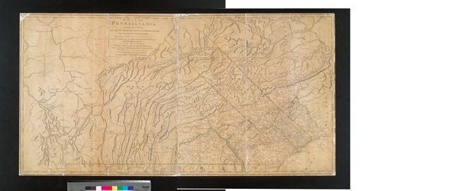 A map of Pennsylvania exhibiting not only the improved parts of that Province, but also its extensive frontiers : laid down from actual surveys and chiefly from the late map of W. Scull published in 1770 : and humbly inscribed to the Honourable Thomas Penn and Richard Penn, esquires, true and absolute proprietaries & governors of the province of Pennsylvania and the territories thereunto belonging.