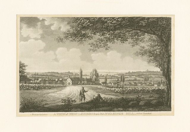 A view of New London from Manwaring's Hill