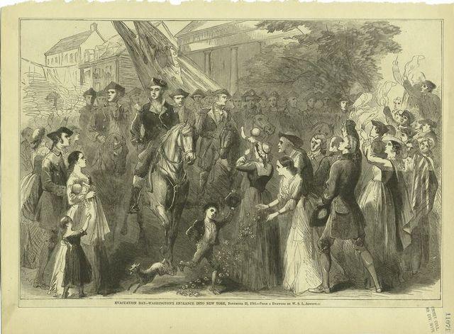 Evacuation Day - Washington's entrance into New York, November 25, 1783