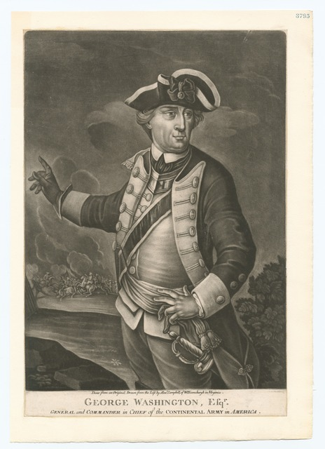George Washington, Esqr. General and Commander in Chief of the Continental Army in America.