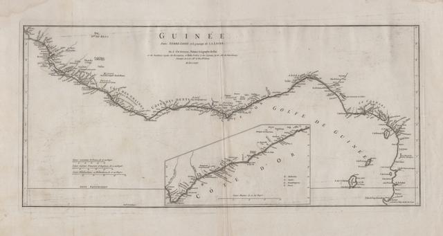 Guinée entre Serre-Lione et le passage de la Ligne