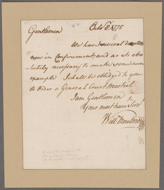Moultrie, William. To Council of Safety
