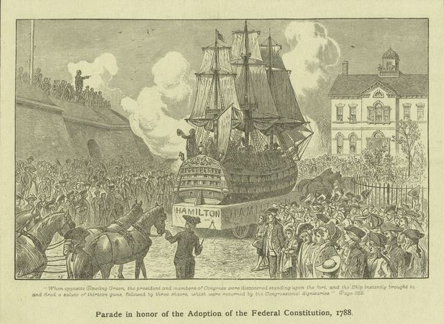 Parade in honor of the adoption of the Federal Constitution, 1788