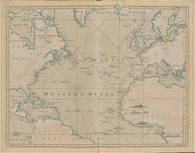 The Atlantic or Western Ocean.