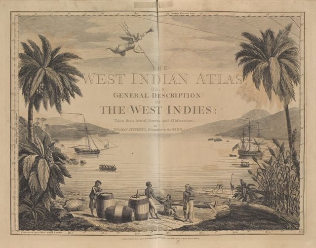 The West-India atlas...  (Frontispiece)