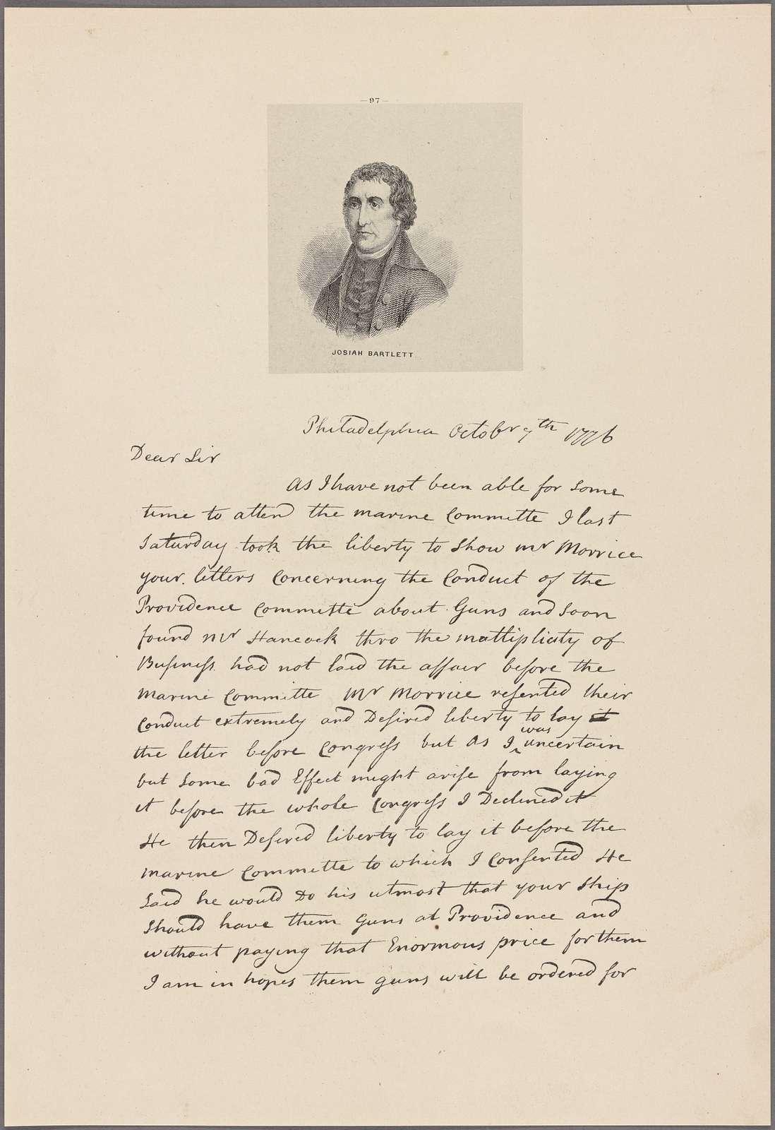 Letter to John Langdon [Portsmouth, N. H.]