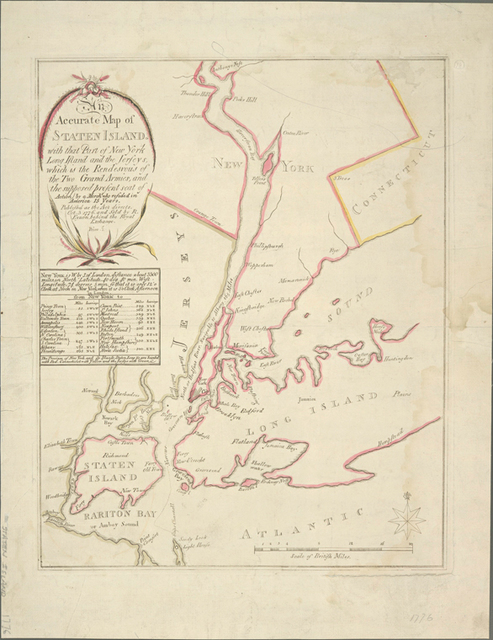 An accurate map of Staten Island : with that part of New York, Long Island and the Jerseys which is the rendesvous of the two grand armies and the supposed present seat of action